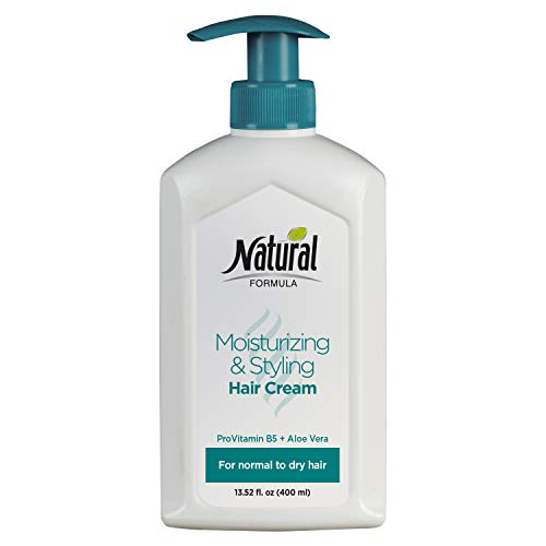 Moisturizing And Styling Hair Cream For Women And Men by Natural Formula - Hair Cream Moisturizer Enriched With Pro Vitamin B5 - Aloe Vera Hair Cream For Normal To Dry -