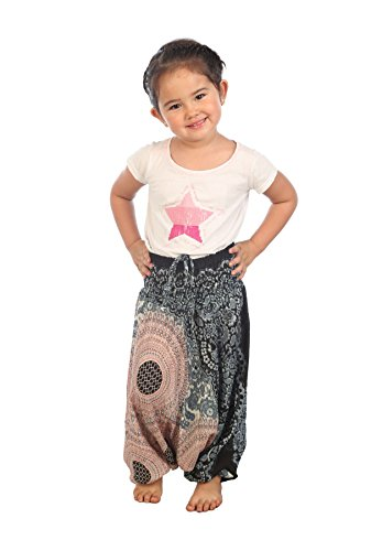 3y Baby Clothing (Lofbaz Baby Infant Harem Rose Flower Child Aladdin Pants Boho Hippy White Size 0/3Y)