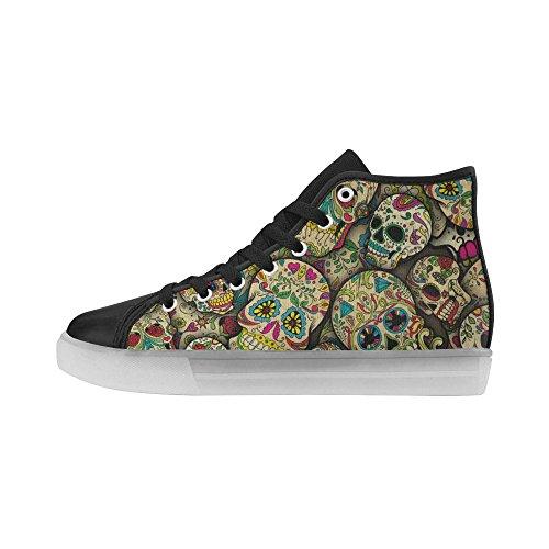 Interestprint Rainbow Light Up Damesschoenen Knipperende Sneakers Sugar Flower Skull 1