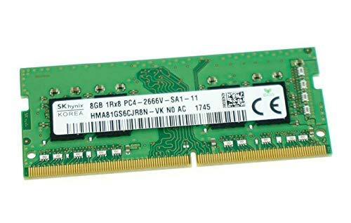 Memoria Ram 8gb Hynix Pc4-21300 Ddr4-2666mhz 260-pin Sodimm 1.2v Single Rank Modulo Hma81gs6cjr8n-vk