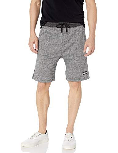 Brooklyn Athletics Men's Gym Shorts Casual Lounge Essential, Black Marl, Medium (Brooklyn Basketball Shorts Men)