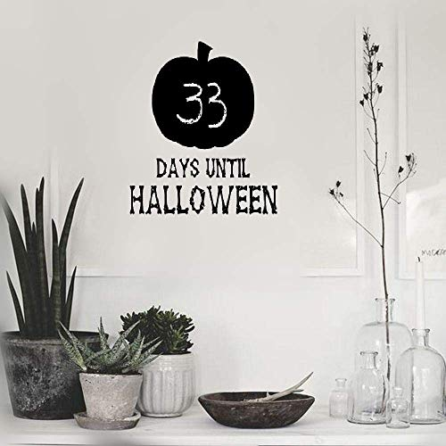 Majiae Vinyl Peel and Stick Mural Removable Decals Chalkboard Halloween Countdown Pumpkin ()