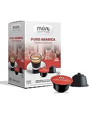 MUST 96 Självskyddade Kaffekapslar i 100% återvinningsbar Arabisk Blandning av Plast INTENSITET 6/8 Förpackningar med 16 Kapslar i 6 Förpackningar Kompatibla med Dolce Gusto Maskinen Made in Italy