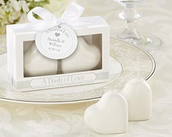 Salz und Pfefferstreuer Herzen incl Verpackung Gastgeschenk Streuer Hochzeit