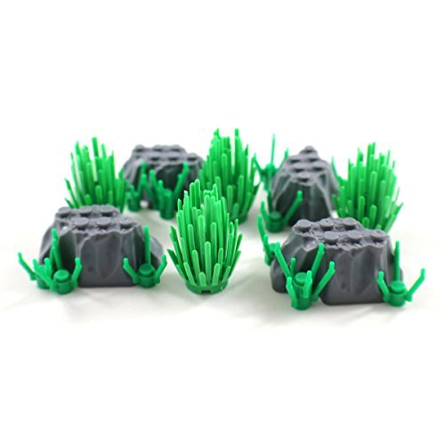 Rock Garden with Shrubs - Scenery and Plants Building Block Accessories