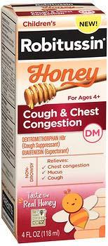 (Children's Robitussin Honey Cough + Chest Congestion DM, 4 fl. oz. (Pack of 2))