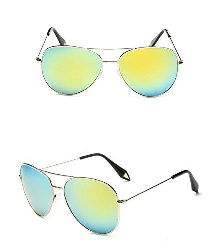 protecciónn sol Espejo de Gafas Gafas Lente 4 7 personalidad X9 polarizada amp; de Vintage Gafas de amp;Gafas Gran Color Película Marco xCqwC4EYFn