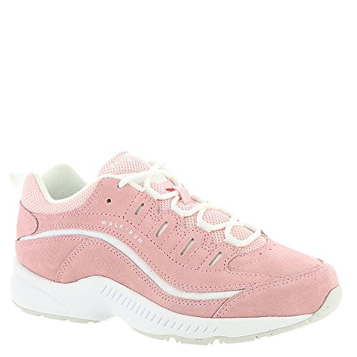 Suede Lace Up Walking Shoes - Easy Spirit Women's Romy Pink 10 D US