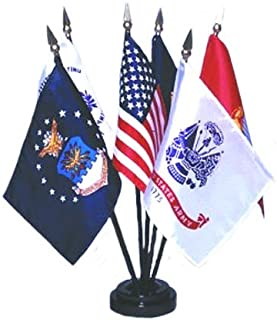 product image for Armed Forces Flag Set 4X6 Inch Mounted E Gloss