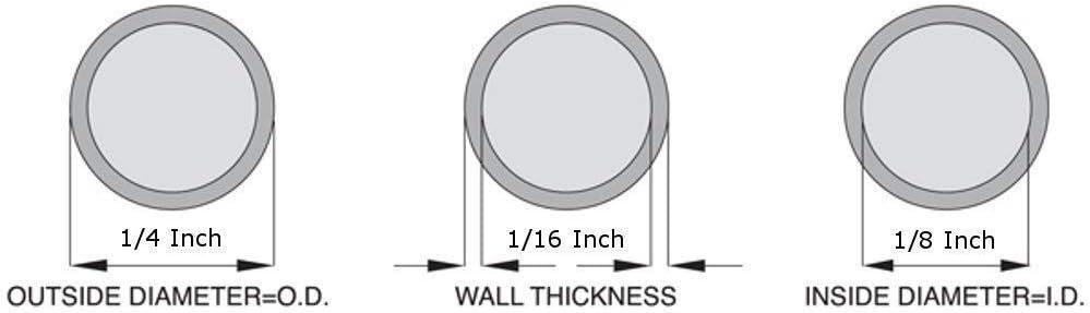 1//8 ID x 1//4 OD Silicone Tubing 5 Feet