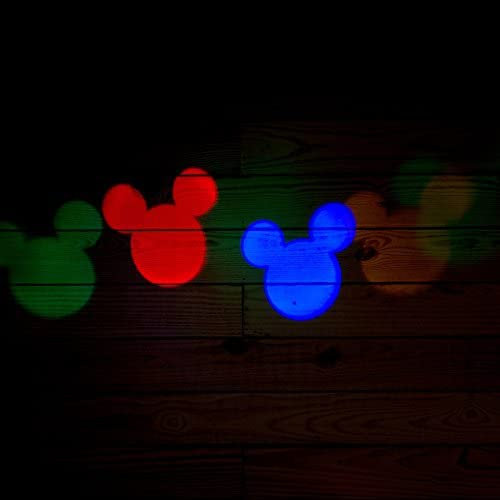 SHIPS PRIORITY Disney Mickey Mouse Christmas Light Projector LED Multi-Color