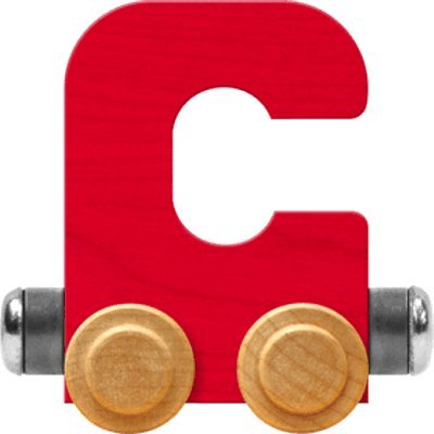 - NameTrain Bright Letter Car C - Made in USA (Red)