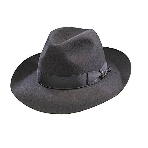 c72b553cfd1 Borsalino Ernesto - Beaver Fur Felt Hat - Charcoal - Buy Online in Oman.