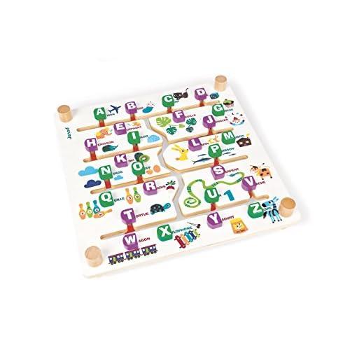 Janod J08185 - Labyletters - Alphabet Bilingue FR/AN
