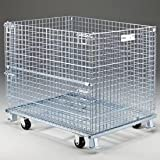 Nashville Wire GCAKIT42P Caster Kit for 40x32 & 48x40 Folding Wire Containers, Caster Kit Only