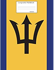 Barbados Composition Notebook: Graph Paper Book to write in for school, take notes, for kids, students, teachers, homeschool,Barbadian Flag Cover
