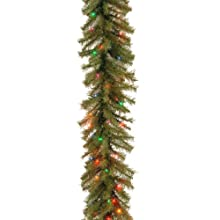 National Tree 9 Foot by 12 Inch Norwood Fir Garland with 100 Multicolor Lights (NF-9BRLO-1)