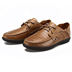 Men's Casual Lace Up Shoes for Walking and Outdoor Activities - Waterproof and Slip-Resistant 115-43K