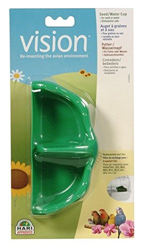 Vision Plastic Seed and Water Small Birds Cup, Green