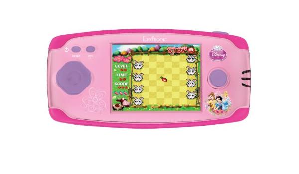 LCD 150 Juegos Funciona con Pilas Rosa LEXIBOOK- Disney Princess Cinderella Ariel Rapunzel Compact Cyber Arcade Consola port/átil