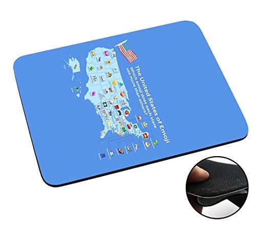 002768 - United States Of Emoji's Design Macbook PC Laptop Anti-slip Mousepad Mouse Mat Tpu Leather-Slim - United Gucci States