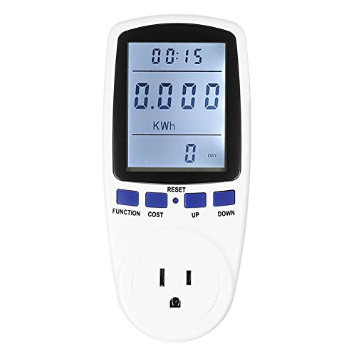 Plug Power Meter Energy Voltage Amps LCD Display Hz Monitor Analyzer Electricity Usage Monitor,Kill A Watt Electricity Usage Monitor, Reduce Your Energy Costs Kill A Watt Power Monitor