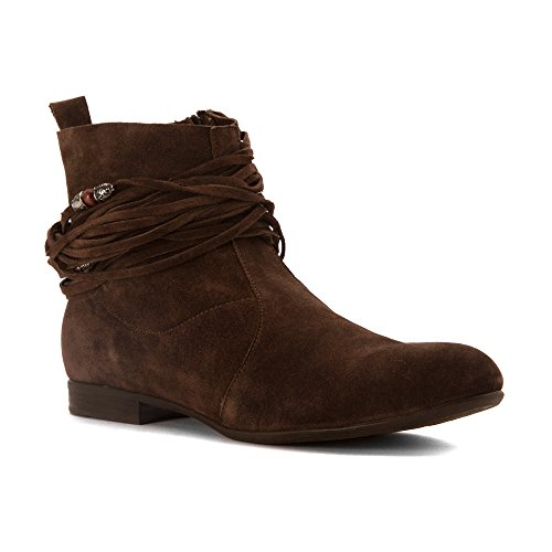 Ethem Womens H1415 Boots Dark Brown Suede