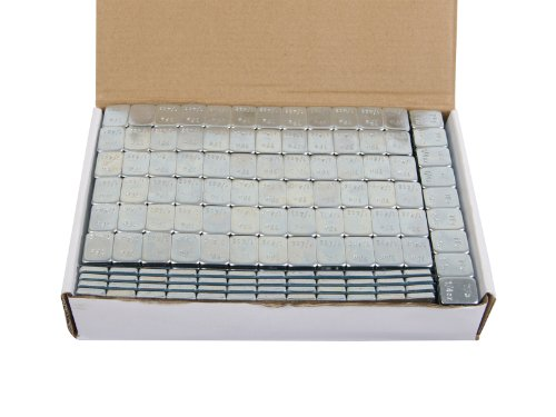 (4) Boxes - 1/4 ounce Wheel Weights Zinc Plated (Lead Free) Strips Adhesive Sticker Backing (816oz total, 68 3-oz strips, ~51lb/pounds) Silver by Precision European Motorwerks (Image #1)