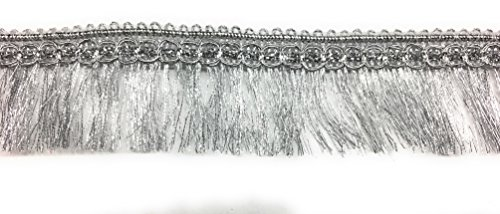 Silver Metallic Fine FRINGE, with Scallop Braid Trimmings 5 yards ()