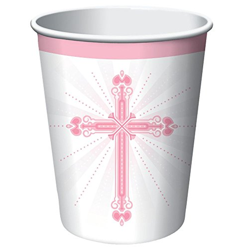 Blessings Pink 9 oz Hot/Cold Paper Cups 18 Per Pack