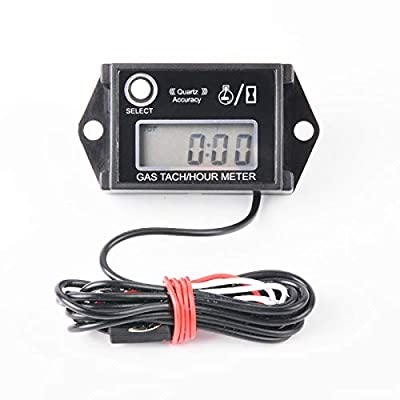 Jayron JR-HM026 Resettable Job Timer,Digital Hour Meter Tachometer, Use for Lawn Mower Tractor Generator: Automotive