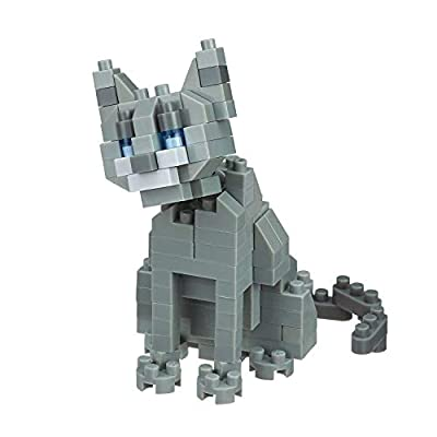 Nanoblocks 3 Cats – Scottish Fold, Russian Blue and Calico Cats Sets (Japan Import): Toys & Games