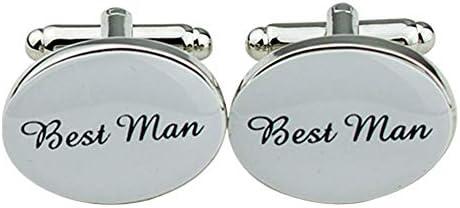 記念灰ペンダント遺灰のための骨壷 メンズ銅ウェディングパーティーギフトシャツカフスカフス、カラー:最高の男 コロンバリウム (Color : Best Man)