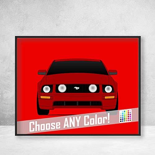 Ford Mustang GT S197 (2005-2009) Poster Print Wall Art Decor Handmade