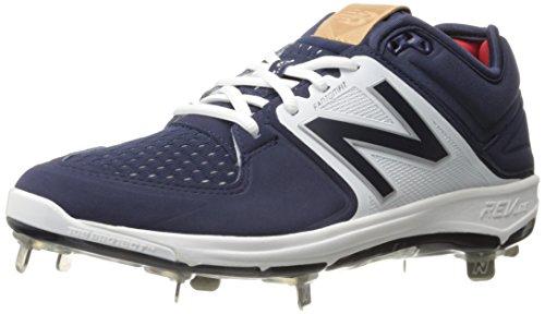 New Balance Men's L3000V3 Baseball Shoe, Navy/White, 12 D US