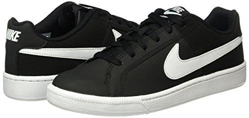 Chaussures Femme 010 Nike Tennis Royale Wmns Court black Noir De white gnq6t