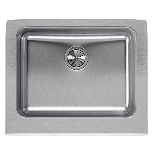 Elkay Lustertone ELUHF2520 Single Bowl Farmhouse Stainless Steel Kitchen Sink