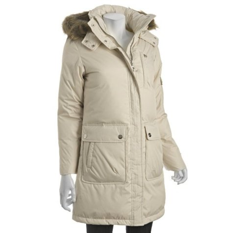 (DNKY Quilted Hooded 'Alana' Anorak Down Jacket - (3X))