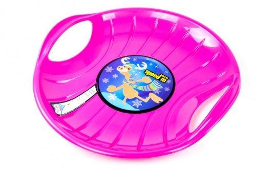 Tellerschlitten Speed D=60cm Rodelteller Schlitten Lenkschlitten Rennrodel (violett)