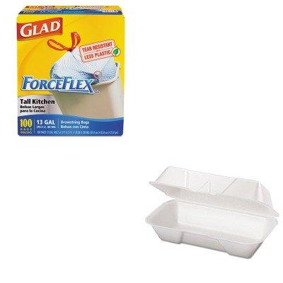 KITCOX70427GPK21600 - Value Kit - Genpak Foam Hoagie Container (GPK21600) and Glad ForceFlex Tall-Kitchen Drawstring Bags ()