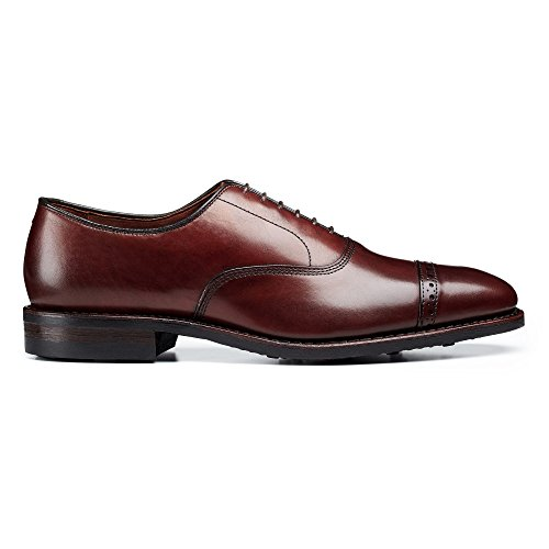 Allen Edmonds Mens Quinto Viale Cap Oxford Con Suole In Gomma Dainite Oxford Scarpe Scure Chili