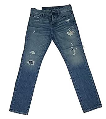 Abercrombie & Fitch Light Blue Ripped Jeans Pant For Men