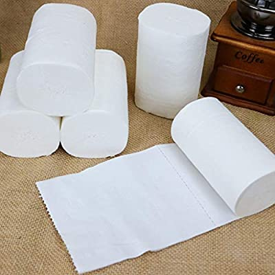 Paper Towels,12 Family Rolls,Roll Paper Tissue Paper,Paper towels 4 Layer Thickened Household Paper: Kitchen & Dining