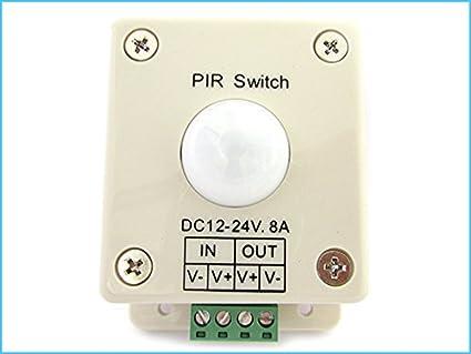 Rilevatore Di Presenza Per Accensione Luci.Ledlux Sensore Di Movimento Per Luci Led Con Sensore Pir Rilevatore
