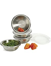 Acquisition 8 Piece Stainless Steel Prep Bowls Set with Lids saleoff