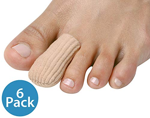 NatraCure Gel Toe & Finger Caps/Protectors for Blisters, Calluses, Corns, Ingrown Nails - 6 Pack