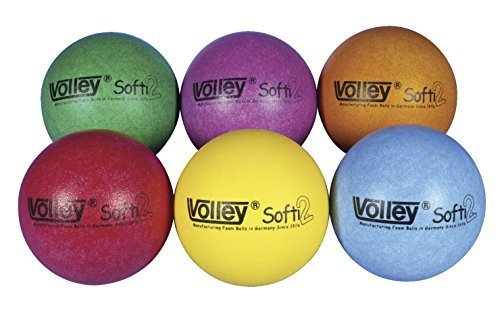 Volley SuperSkin 2 Softi Very Low Bounce Balls - 6 1/4 inch - Set of 6 - Assorted Colors by Volley (Image #1)