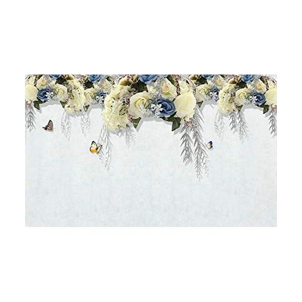 LIWALLPAPER-Carta-Da-Parati-3D-Fotomurali-Fiore-Giallo-Farfalla-Pianta-Bianca-Camera-da-Letto-Decorazione-da-Muro-XXL-Poster-Design-Carta-per-pareti-200cmx140cm