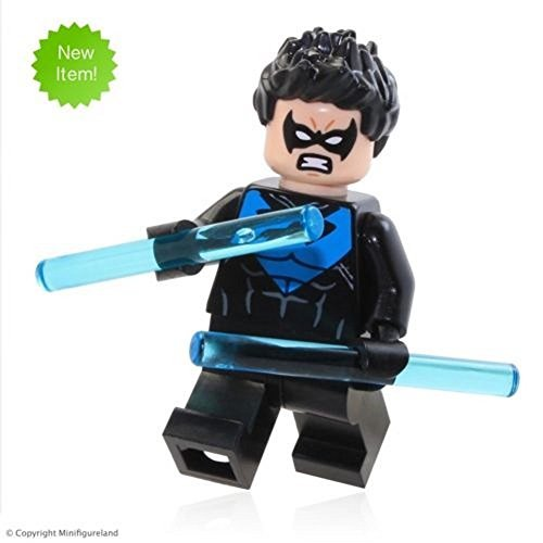 LEGO Super Heroes: Batman III MiniFigure - NightWing (Blue, 2016) From Set 30606 (All Batman Characters)