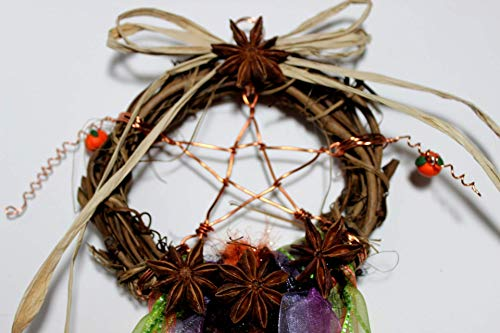 (Copper Pentacle Dream Catcher, Dream Catcher, Grapevine Wreath, Copper Star Grapevine Dream Catcher)